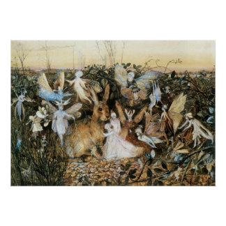 Vintage Fairy Tale Fairy Twilight, John Fitzgerald Poster