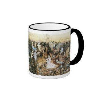 Vintage Fairy Tale Fairy Twilight, John Fitzgerald Ringer Coffee Mug