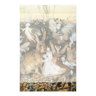 Vintage Fairy Tale Fairy Twilight, John Fitzgerald Stationery Paper