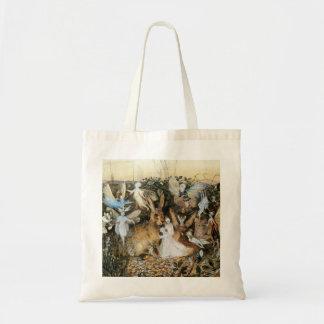 Vintage Fairy Tale Fairy Twilight, John Fitzgerald Tote Bag