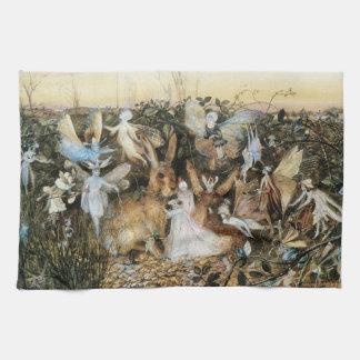 Vintage Fairy Tale Fairy Twilight, John Fitzgerald Towel