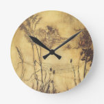 Vintage Fairy Tale, Fairy's Tightrope by Rackham Round Wall Clocks
