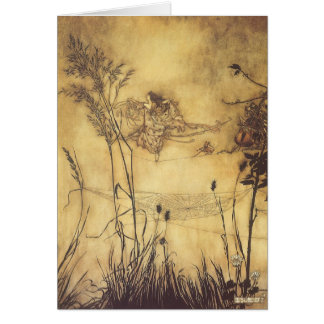 Vintage Fairy Tale, Fairy's Tightrope by Rackham Greeting Card