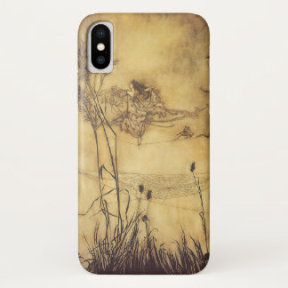 Vintage Fairy Tale, Fairy's Tightrope by Rackham iPhone X Case