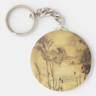 Vintage Fairy Tale, Fairy's Tightrope by Rackham Basic Round Button Keychain