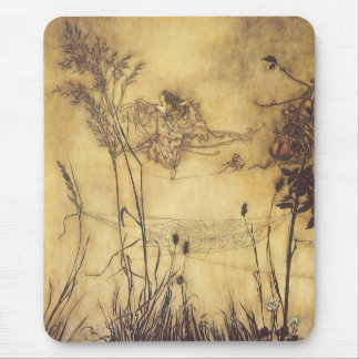 Vintage Fairy Tale, Fairy's Tightrope by Rackham Mouse Pad