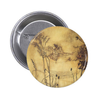 Vintage Fairy Tale, Fairy's Tightrope by Rackham Pinback Button