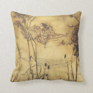 Vintage Fairy Tale, Fairy's Tightrope by Rackham Throw Pillow
