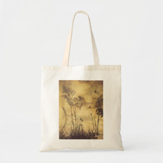 Vintage Fairy Tale, Fairy's Tightrope by Rackham Tote Bag