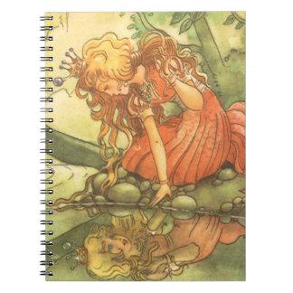 Vintage Fairy Tale, Frog Prince Princess by Pond Notebook