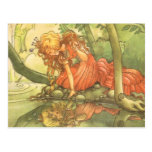 Vintage Fairy Tale, Frog Prince Princess by Pond Post Cards