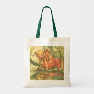 Vintage Fairy Tale, Frog Prince Princess by Pond Tote Bag