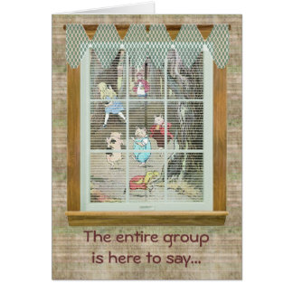 Vintage Fairy Tale, Group Happy Wishes Card
