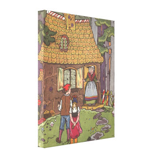 Vintage Fairy Tale, Hansel and Gretel by Hauman Canvas Print