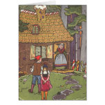 Vintage Fairy Tale, Hansel and Gretel by Hauman Greeting Card