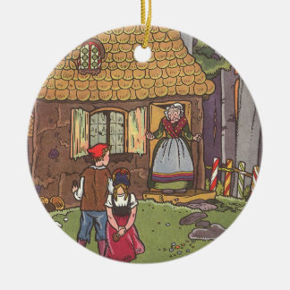 Vintage Fairy Tale, Hansel and Gretel by Hauman Ceramic Ornament