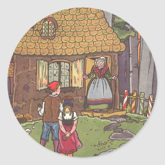 Vintage Fairy Tale, Hansel and Gretel by Hauman Classic Round Sticker