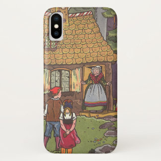 Vintage Fairy Tale, Hansel and Gretel by Hauman iPhone X Case