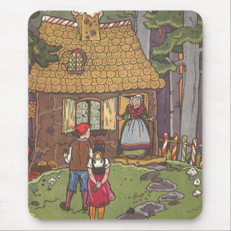 Vintage Fairy Tale, Hansel and Gretel by Hauman Mouse Pad
