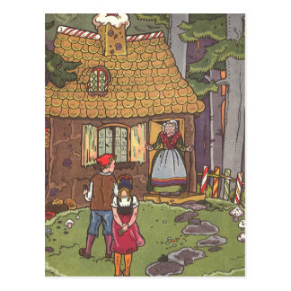 Vintage Fairy Tale, Hansel and Gretel by Hauman Postcard