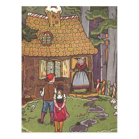 Vintage Fairy Tale, Hansel and Gretel by Hauman Postcard