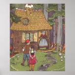 Vintage Fairy Tale, Hansel and Gretel by Hauman Print