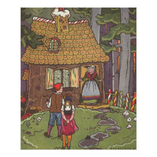 Vintage Fairy Tale, Hansel and Gretel by Hauman Poster