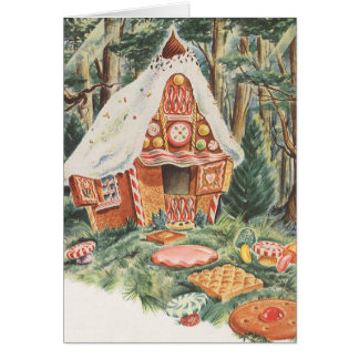 Vintage Fairy Tale, Hansel and Gretel Candy House Card