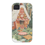 Vintage Fairy Tale, Hansel and Gretel Candy House Vibe iPhone 4 Cases