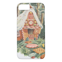 Vintage Fairy Tale, Hansel and Gretel Candy House iPhone 8/7 Case