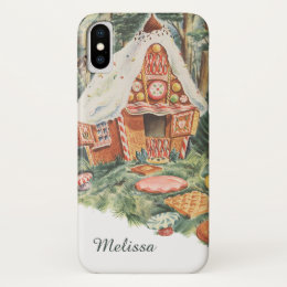 Vintage Fairy Tale, Hansel and Gretel Candy House iPhone X Case