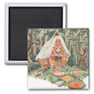 Vintage Fairy Tale, Hansel and Gretel Candy House Magnet