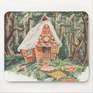 Vintage Fairy Tale, Hansel and Gretel Candy House Mouse Pad