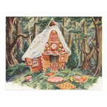 Vintage Fairy Tale, Hansel and Gretel Candy House Postcards