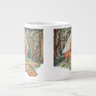 Vintage Fairy Tale, Hansel and Gretel Candy House Extra Large Mugs