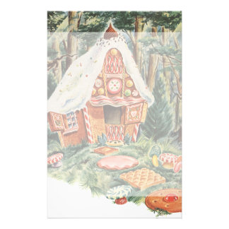Vintage Fairy Tale, Hansel and Gretel Candy House Stationery