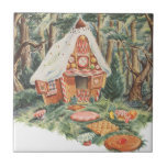 Vintage Fairy Tale, Hansel and Gretel Candy House Small Square Tile