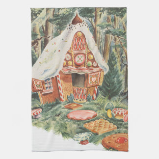 Vintage Fairy Tale, Hansel and Gretel Candy House Towel