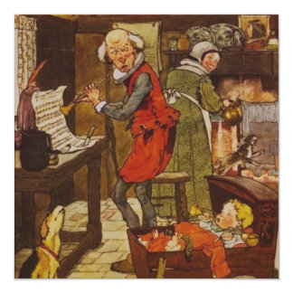 Vintage Fairy Tale 5.25x5.25 Square Paper Invitation Card
