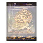 Vintage Fairy Tale, Little Mermaid in Ocean Coral Letterhead
