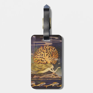 Vintage Fairy Tale, Little Mermaid in Ocean Coral Luggage Tag