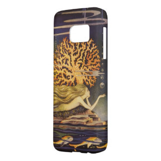Vintage Fairy Tale, Little Mermaid in Ocean Coral Samsung Galaxy S7 Case