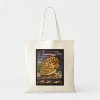 Vintage Fairy Tale, Little Mermaid in Ocean Coral Tote Bag