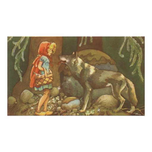 Vintage Fairy Tale, Little Red Riding Hood Poster