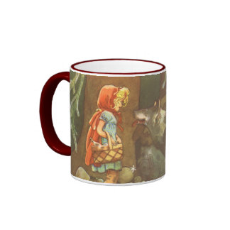 Vintage Fairy Tale, Little Red Riding Hood Ringer Mug