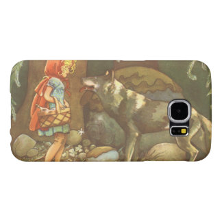 Vintage Fairy Tale, Little Red Riding Hood Samsung Galaxy S6 Cases