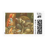 Vintage Fairy Tale, Little Red Riding Hood Stamps