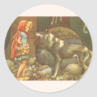 Vintage Fairy Tale, Little Red Riding Hood Stickers