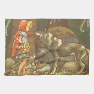 Vintage Fairy Tale, Little Red Riding Hood Towel