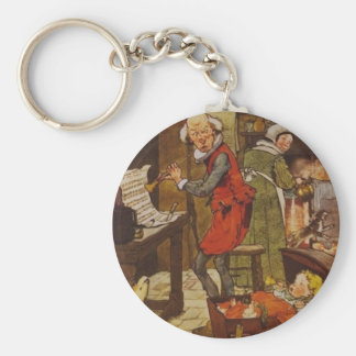 Vintage Fairy Tale Musical Baby Basic Round Button Keychain